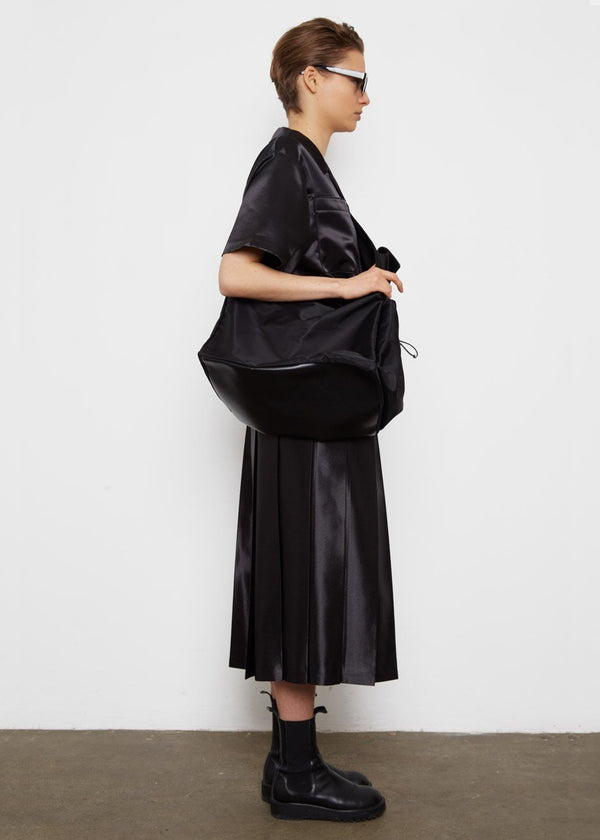 Oversized Nylon Sling Bag- Black Bag L'art
