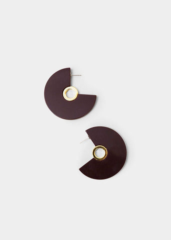 Pac Eyelet Hoop Earrings in Bordo by Rachel Comey Earrings Rachel Comey