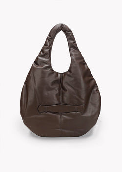 Padding Shoulder Bag by Low Classic in Dark Brown Bag Low Classic