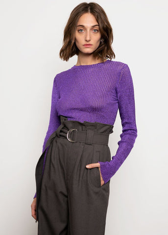 Paloma Wool Teide Knit Top in Purple Top Paloma Wool