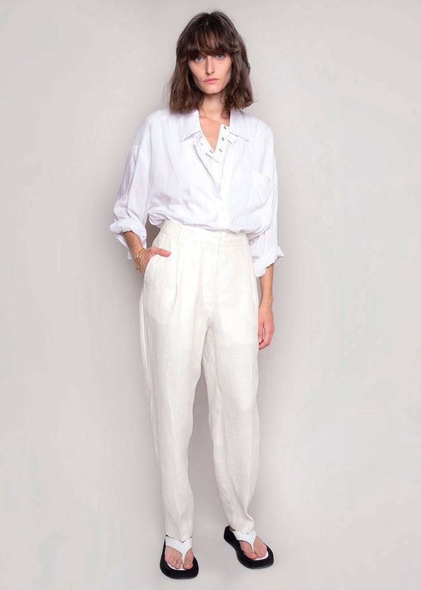 Paris Pants by Remain Birger Christensen- White Asparagus Pants Remain