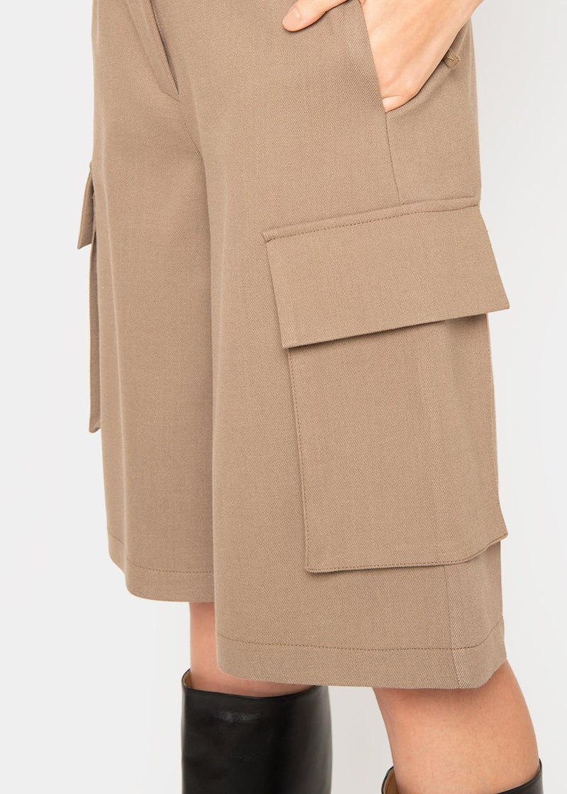 Patch Pocket Trouser Shorts- Coffee Brown Shorts L'art