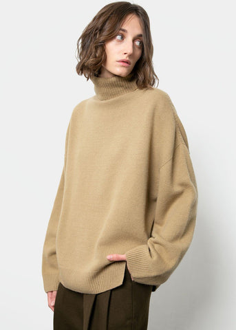 Pear Green Turtleneck Sweater Sweater Maran