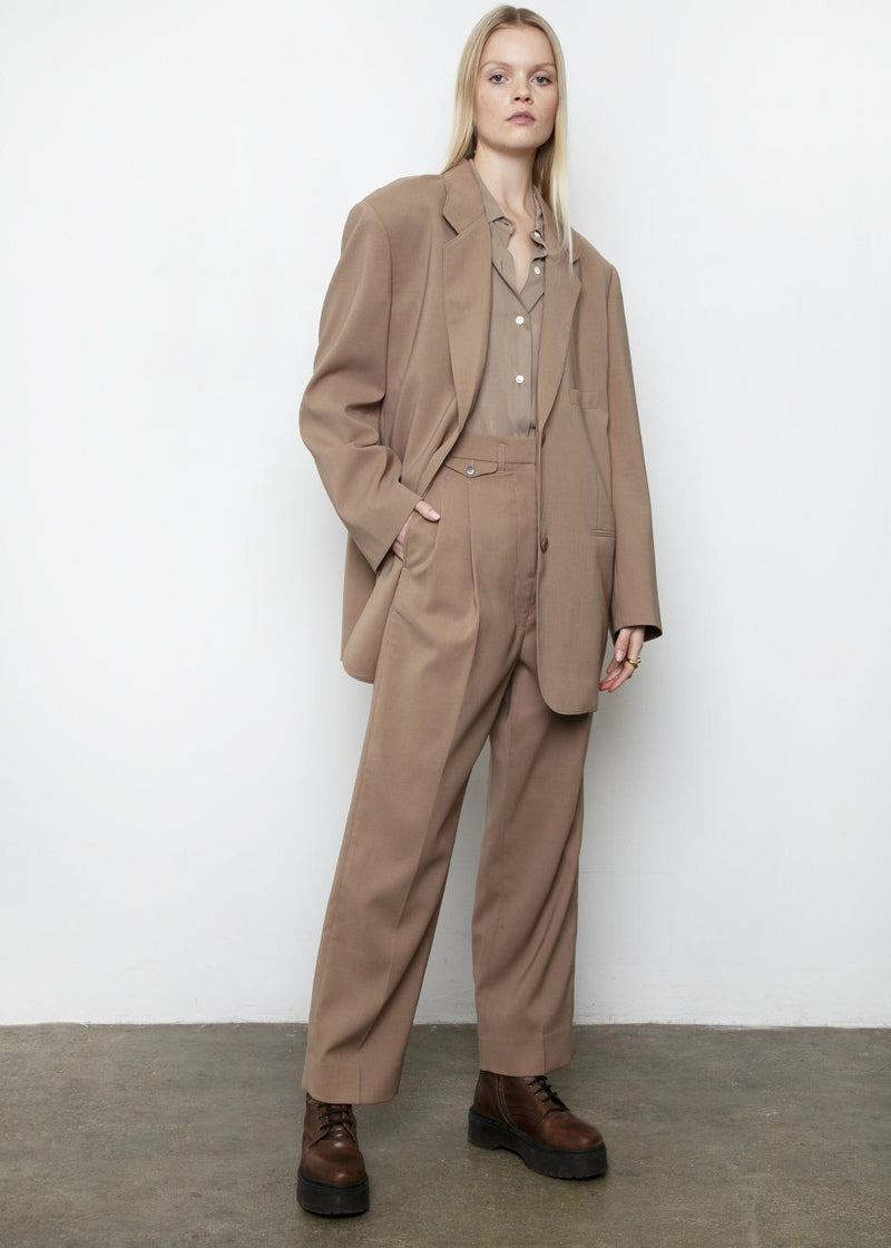 Pernille Boy Blazer in Brown Blazer More than Yesterday