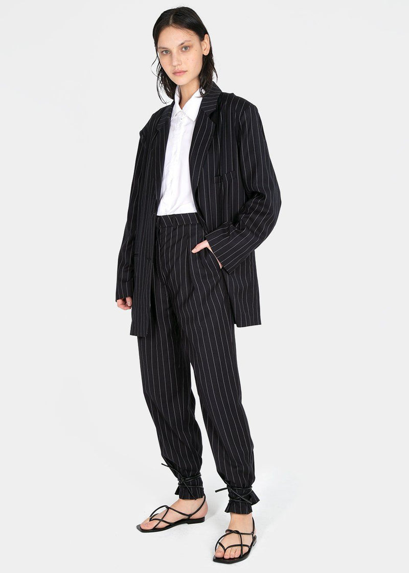 Pernille Boy Pants in Striped Navy Pants The Frankie Shop