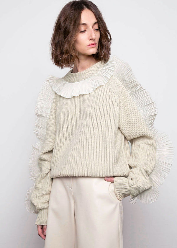 Phoenix Nicco Sweater with Plissé Frills by Rodebjer Sweater Veranda