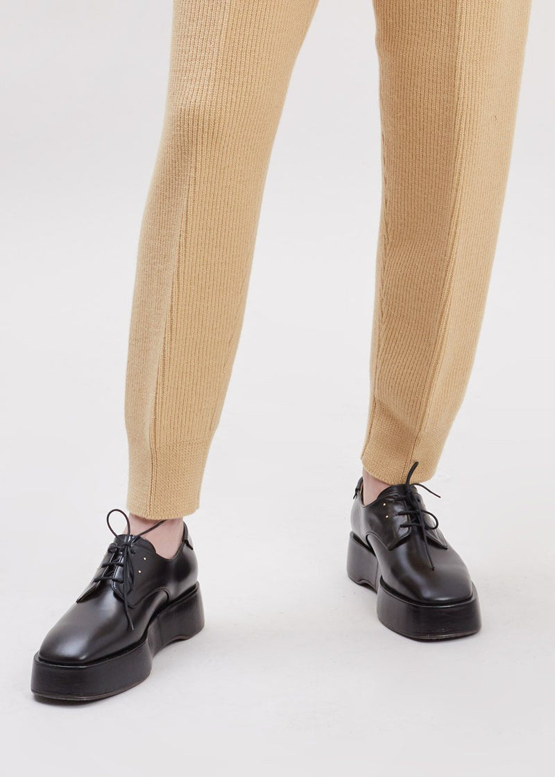 Platform Oxford Loafers by Reike Nen in Black Shoes Reike Nen