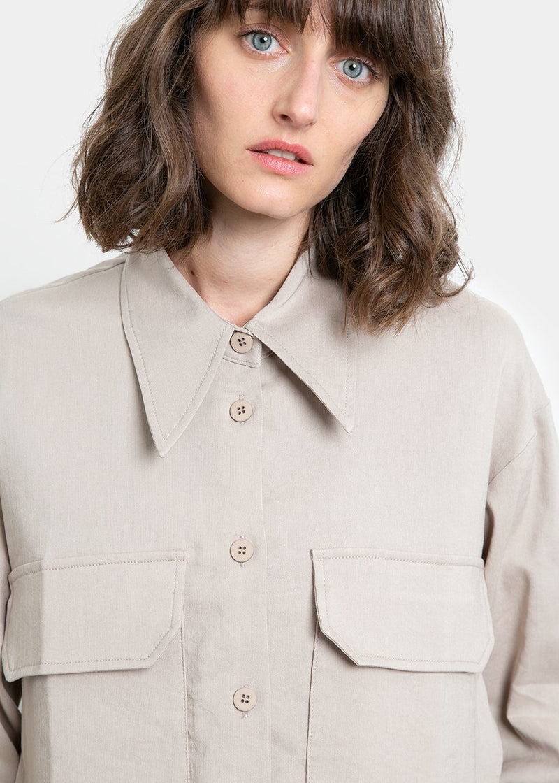 Pocket Short Shirt by Low Classic- Beige Shirt Low Classic