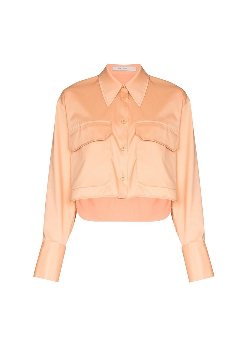 Pocket Short Shirt by Low Classic- Peach Shirt Low Classic