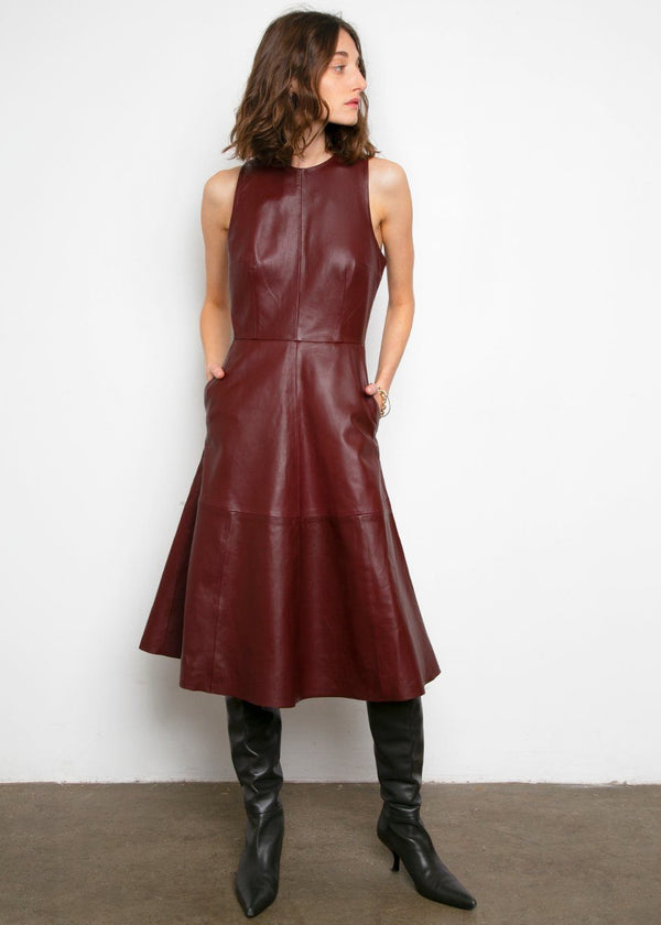 Portia Leather Dress by Remain Birger Chistensen- Port Royale Dress Remain