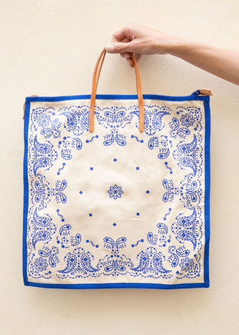 Princess Blue Paisley Tote Bag The Frankie Shop