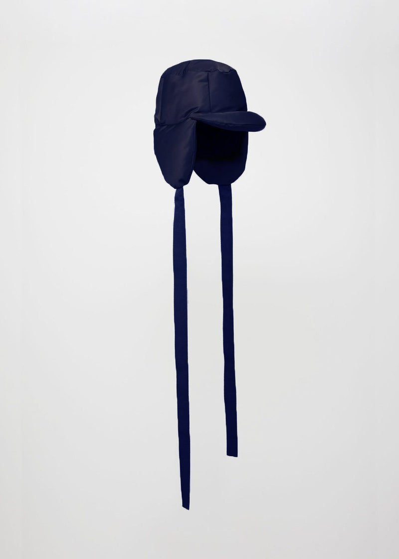 Puffy Trapper Hat by Lola Hats in Navy Hat Lola Hats