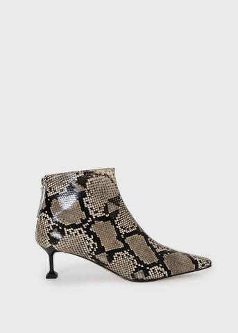 Python Pointy Boots with T-Square Heel Shoes Lapin