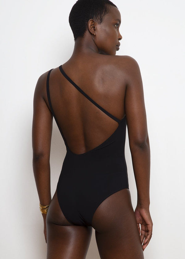 Quindici One Piece Swimsuit by Lido- Black swimsuit Lido
