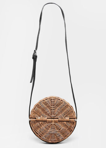 Rachel Comey Baan Bag in Clove-Black Washed Wicker Bags Rachel Comey