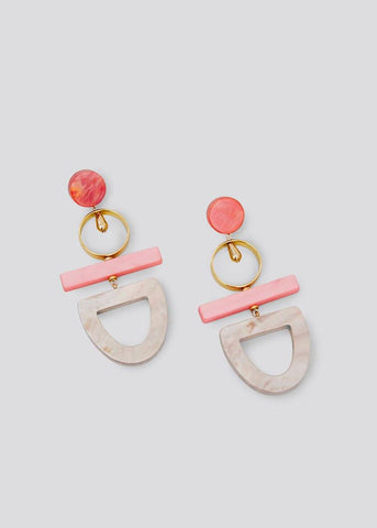 Rachel Comey Hestia Earrings in Watermelon-Gold Earrings Rachel Comey