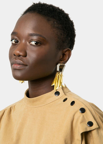 Rachel Comey Miranda Earrings- Silver-Gold Earrings Rachel Comey
