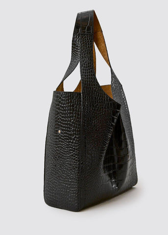 Rachel Comey Monte Tote Bag in Black Croc Bag Rachel Comey