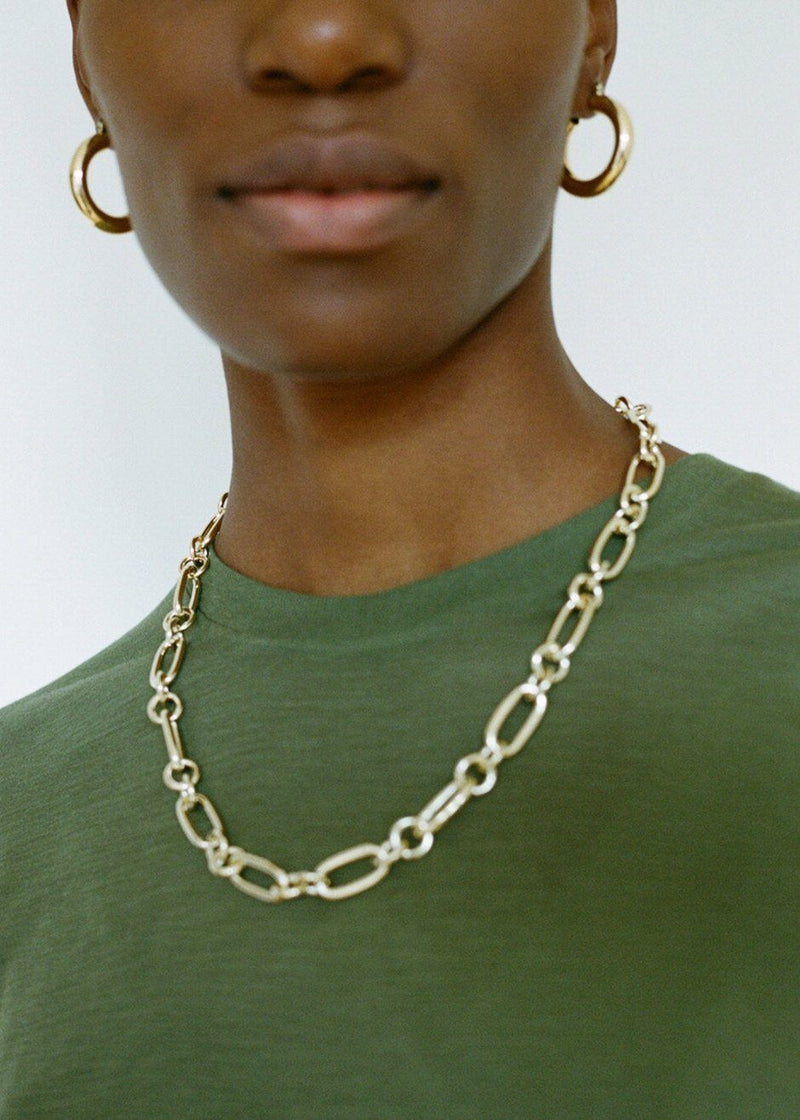 Rafaella Chain Necklace by Laura Lombardi in Gold Necklace Laura Lombardi