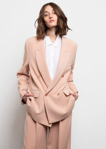 Raised Seam Blazer- Salmon Blazer Jelome