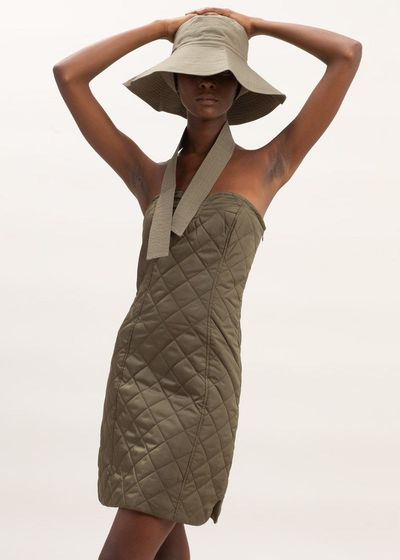 Recycled Ripstop Quilted Dress by GANNI in Kalamata Dress Ganni