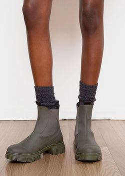 Recycled Rubber City Boot by GANNI in Kalamata boots Ganni
