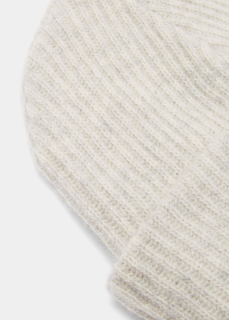 Recycled Wool Knit Hat by GANNI in Paloma Melange Hat Ganni