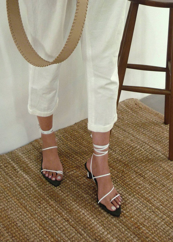 Reike Nen Odd Pair Sandals- White & Khaki Shoes Reike Nen