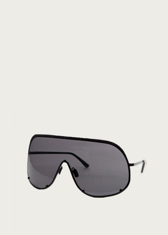 Rick Owens Mask Shield Sunglasses in Black sunglasses Rick Owens