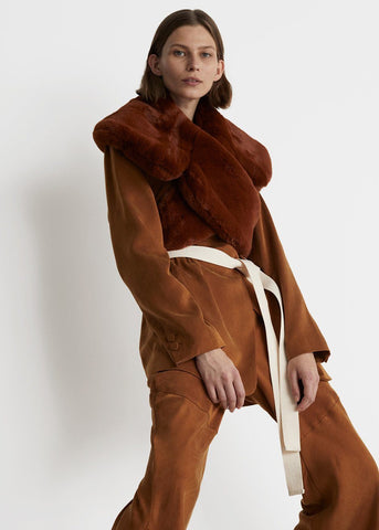 Rodebjer Hyper Wrap Collar- Cinnamon Scarf Rodebjer