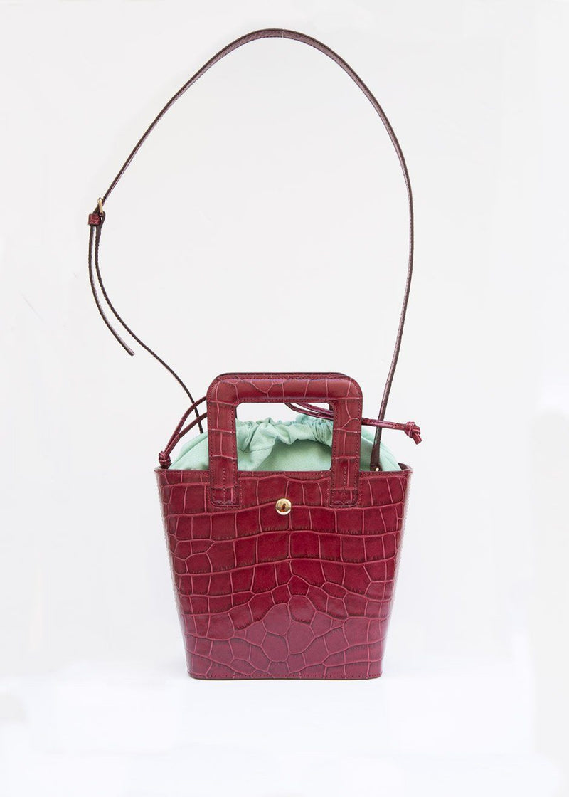 Romy Burgundy Croc Bag by Eudon Choi Bag Eudon Choi