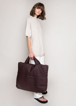Rubber Large Tote Bag by KASSL Editions in Dark Chocolate Bag KASSL Editions