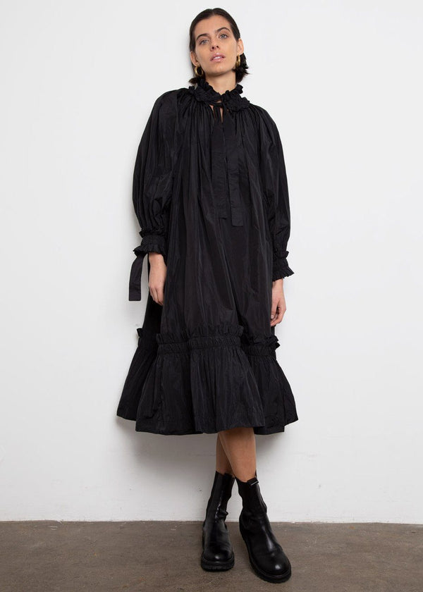 Ruffled Tafeta Dress by Studio Cut- Black Dress Studio Cut