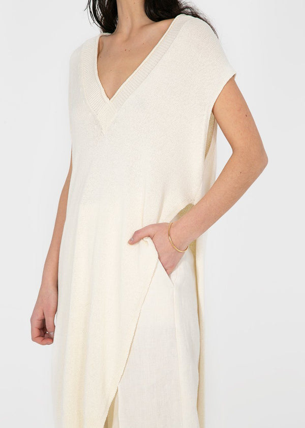 Rus Brouillard Sleeveless Tunic- Chalk Top Rus the Brand