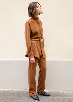 Russet Slim Twill Trousers Pants Stage
