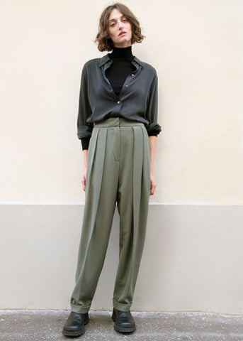 Russian Green Cuffed Suit Trousers Pants Blossom