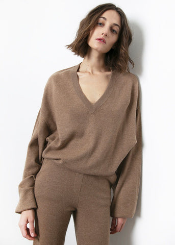 Safari Fangatau Cashmere Sweater by Loulou Studio sweater Loulou Studio