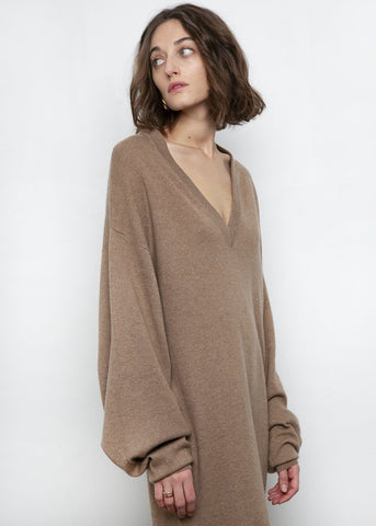 Safari Gambier Cashmere Dress by Loulou Studio Dress Loulou Studio