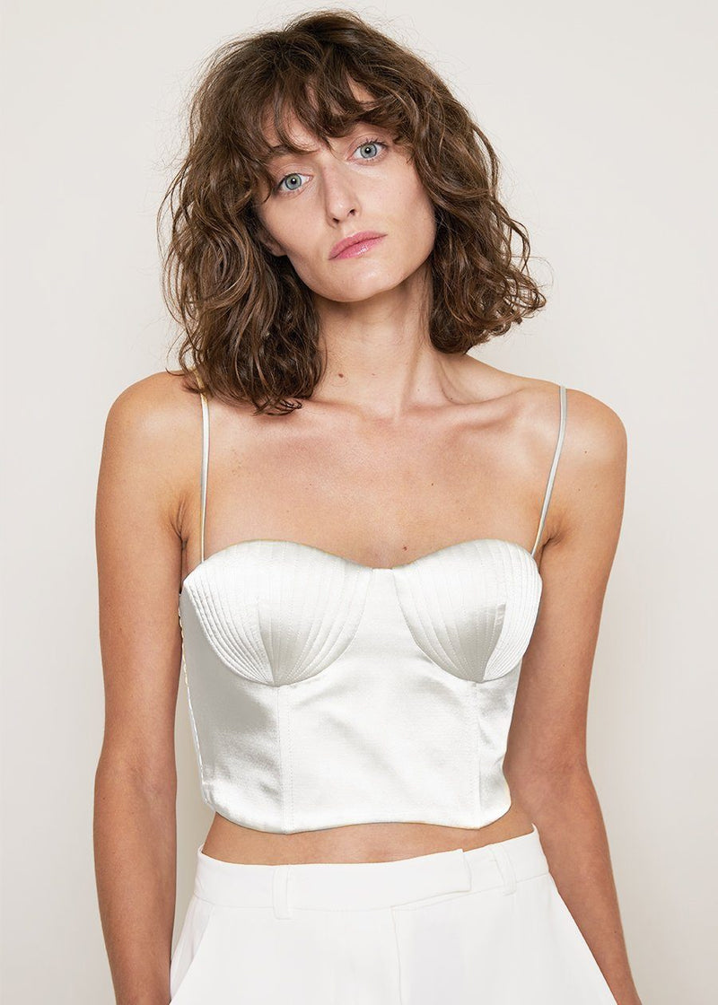 Seashell Bustier Top by Bevza in Ivory Top bevza