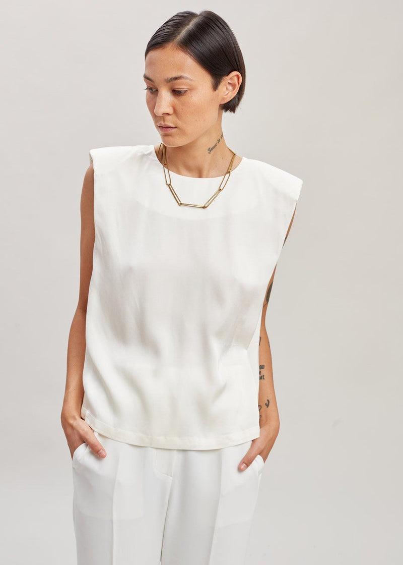 Secretary Muscle Tee by The Garment in Cream Top The Garment