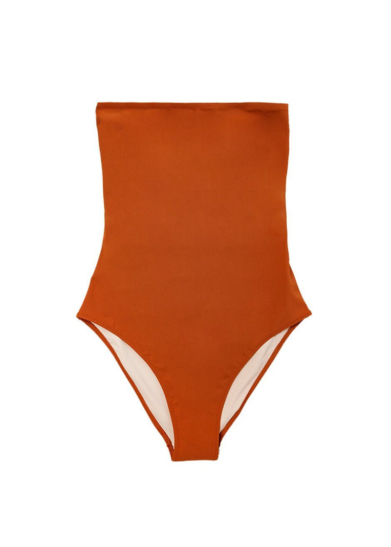 Sedici One Piece Swimsuit by Lido- Terracotta swimsuit Lido