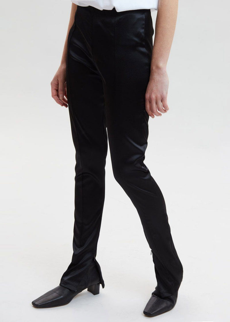 Side Zip Disco Pants in Black Pants Paper Moon