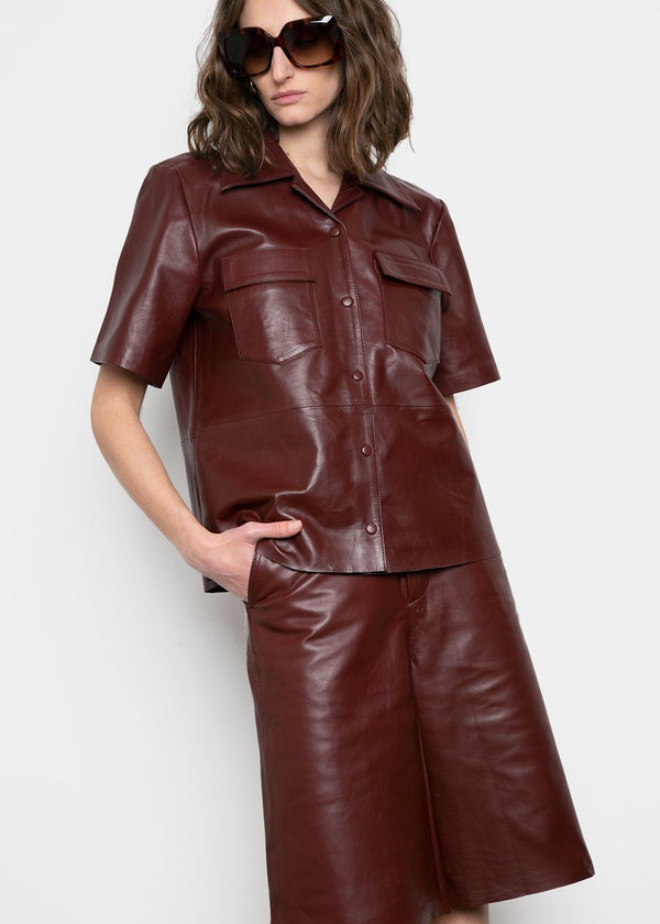 Sienna Leather Shirt by Remain Birger Christensen- Port Royale Shirt Remain