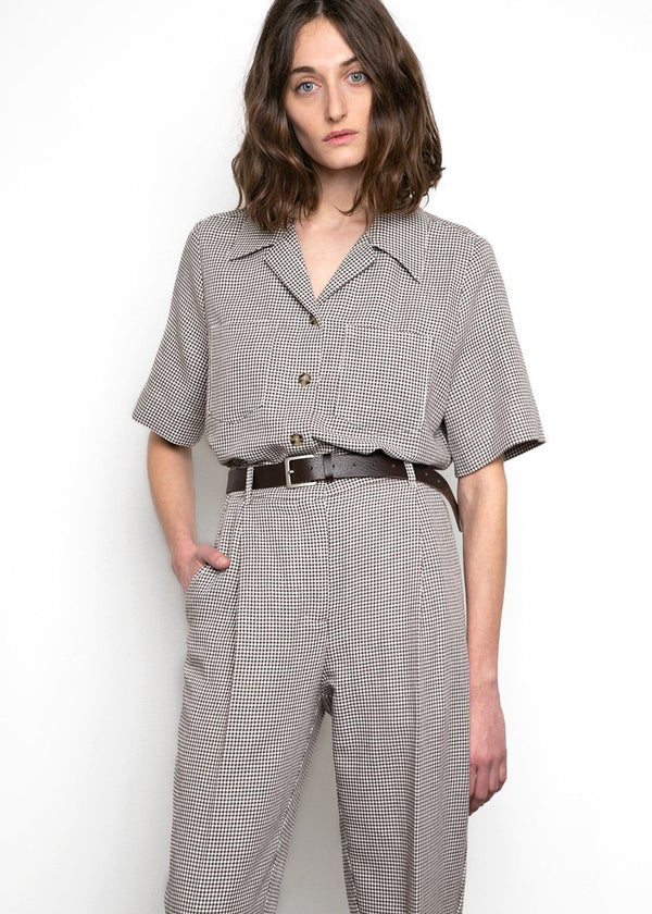 Sienna Shirt by Remain Birger Christensen- Butternut Comb Shirt Remain