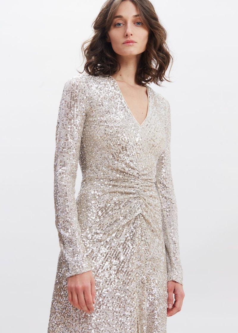 Sierra Dress by ROTATE in Silver Dress Rotate
