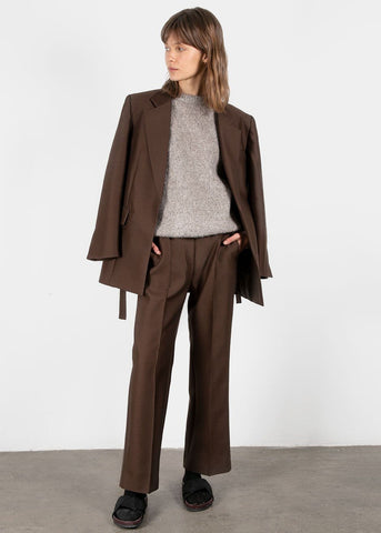 Silk Blend Pants in Espresso Pants Blossom