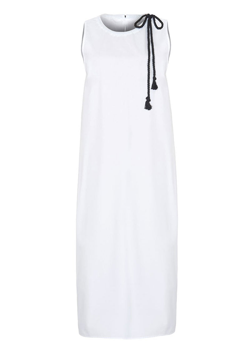 Sleeveless Rope Midi Dress in White Dress The Wave