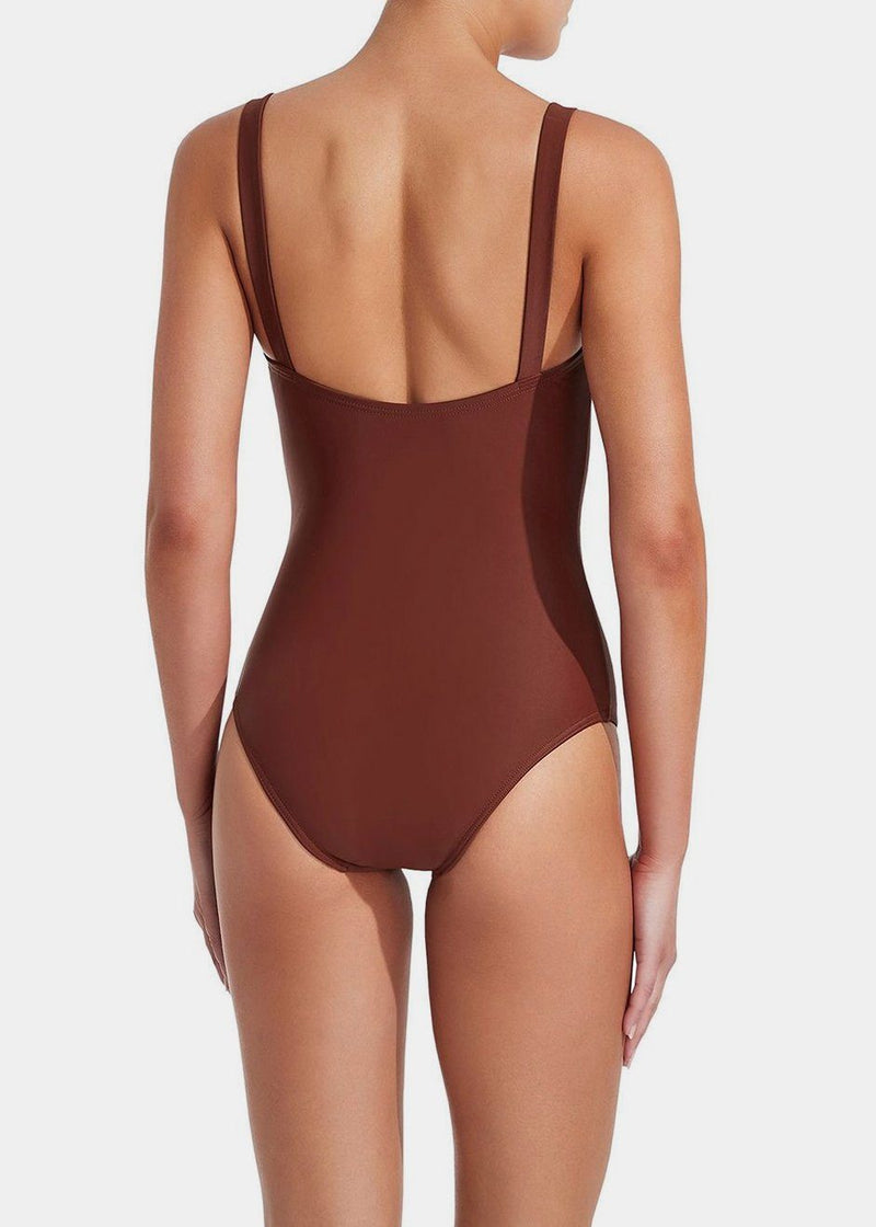 Square Maillot Swimsuit by Matteau- Rust swimsuit Matteau