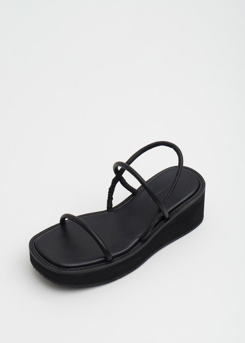 String Sandals by Amomento in Black Shoes Amomento
