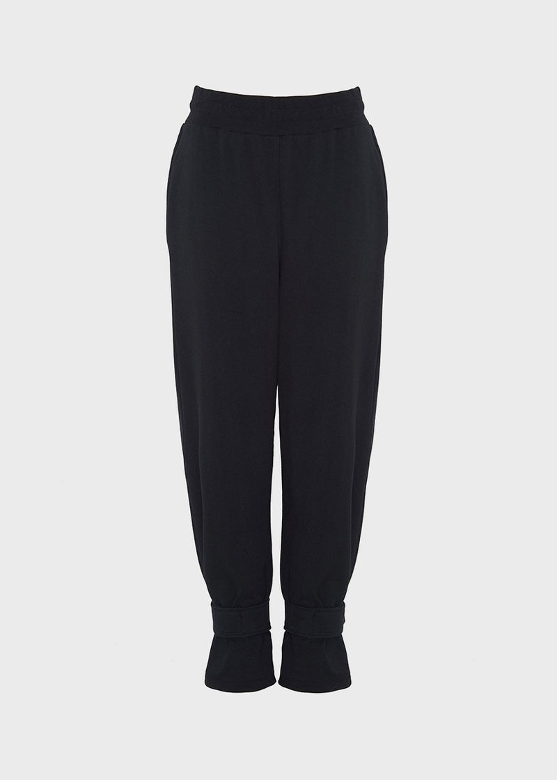 Tab Cuff Sweatpants in Black Pants The Frankie Shop